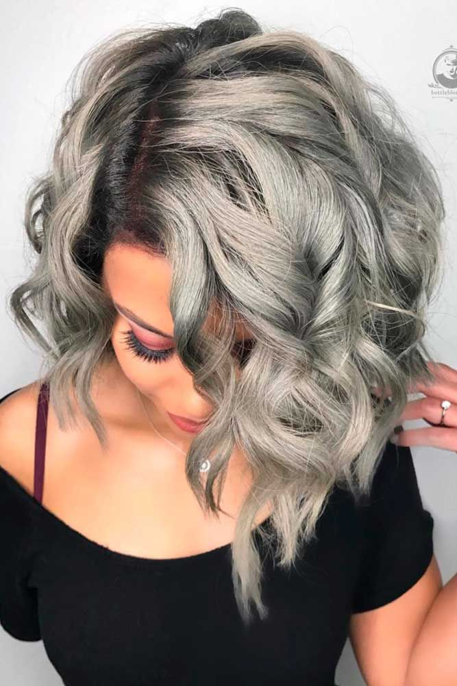 Streaks Of Silver #grayhair ❤️ Gray hair is becoming quite trendy thanks to ...