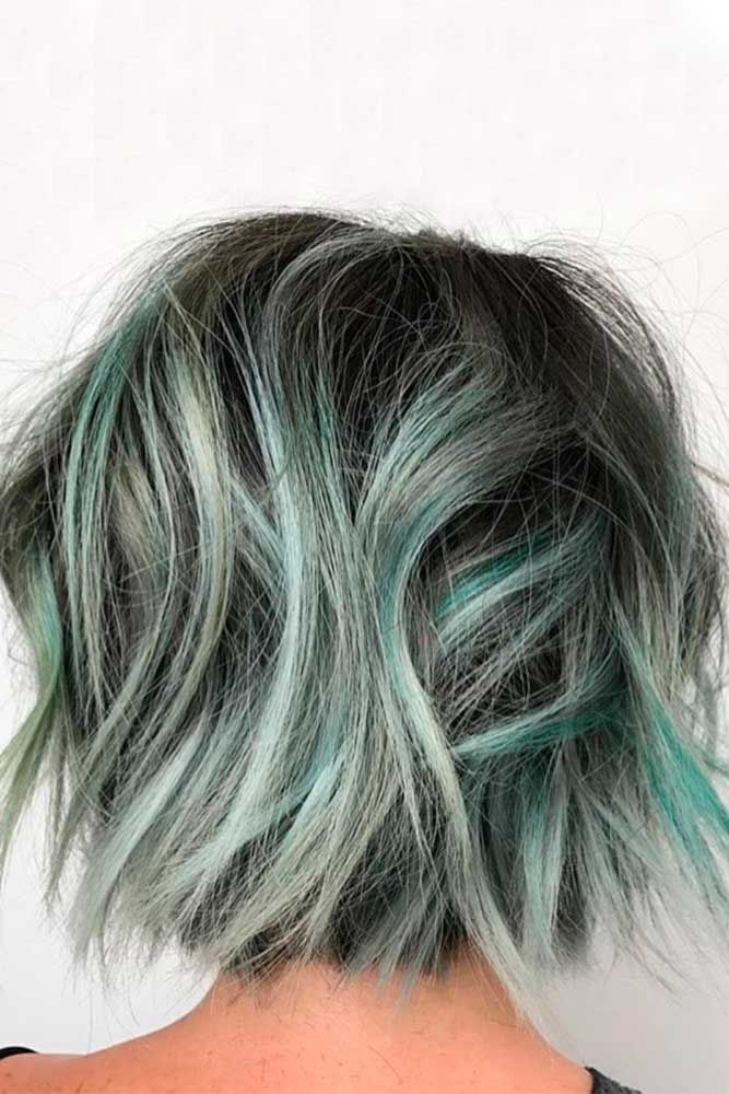 Ocean Blue Waves #grayhair ❤️ Gray hair is becoming quite trendy thanks to p...