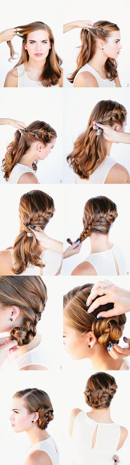 French braid bun....