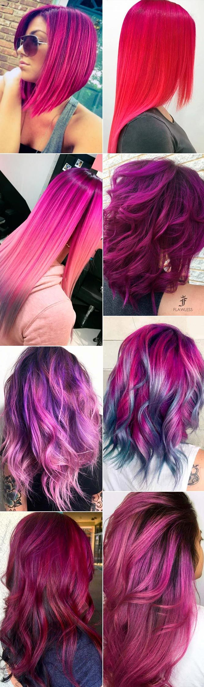 Magenta hair color is perfect for daring ladies who are not scared of experiment...