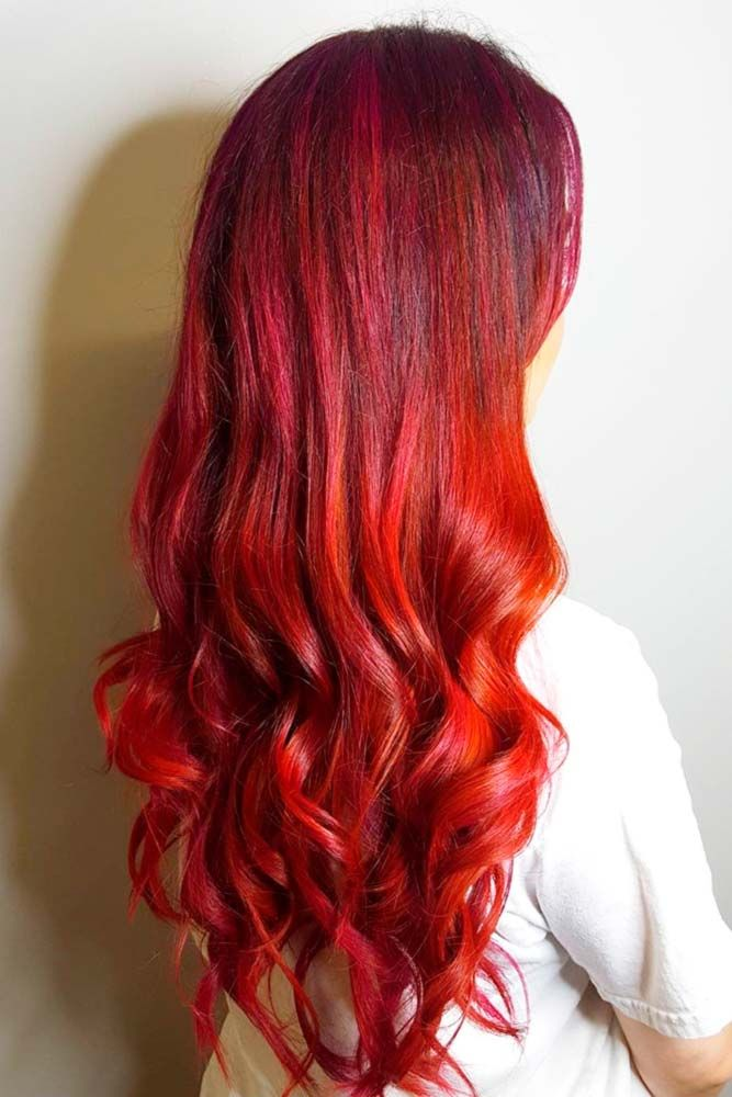 Ready for a drastic hair change: what about red hair? This color definitely make...