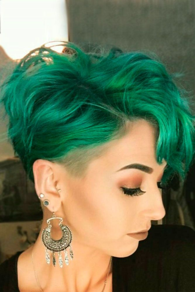 Green hair is ultra-trendy right now.  And hair dyed in green is no exception. O...