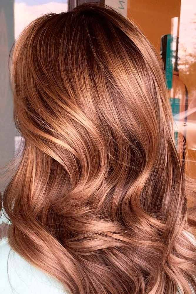 Collection of caramel hair color trends to improve your stylish look