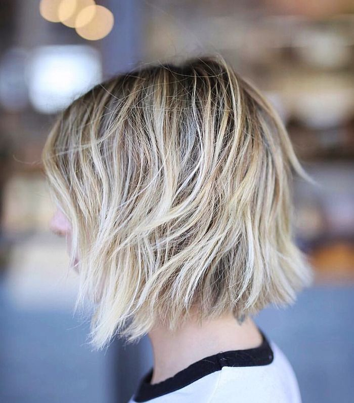 Hair Color Ideas for Short Hair - Balayage Blonde