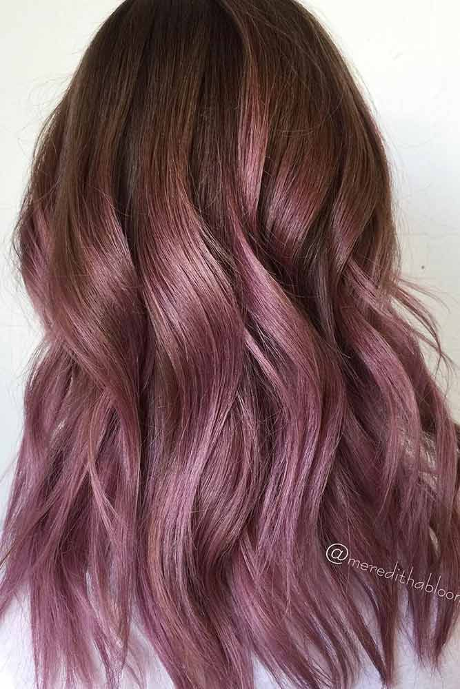 Chocolate lilac hair has become trendy these days. Have you already seen all the...