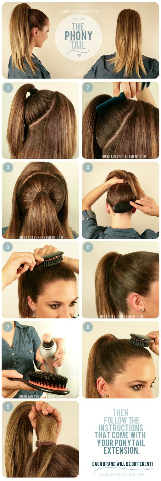 Ever wonder how to prep your hair before attaching a ponytail extension? Here ar...