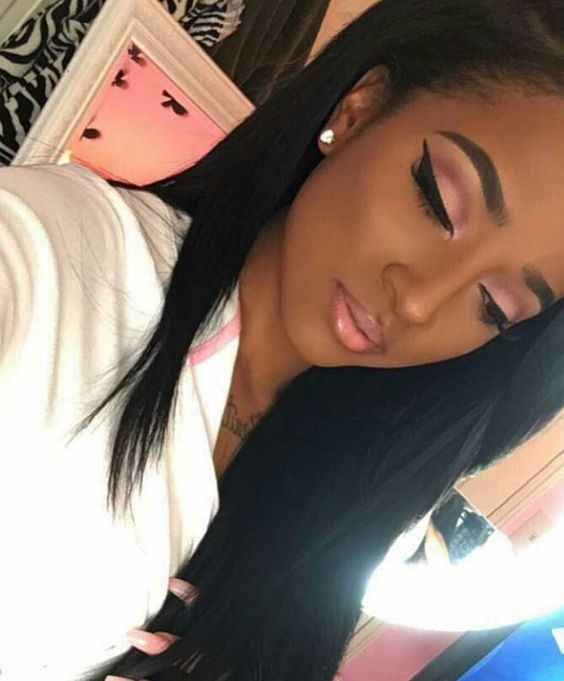 www.shorthaircuts... Black Women Makeup Tips For Dark Skin - Copper Eyes & Nude ...