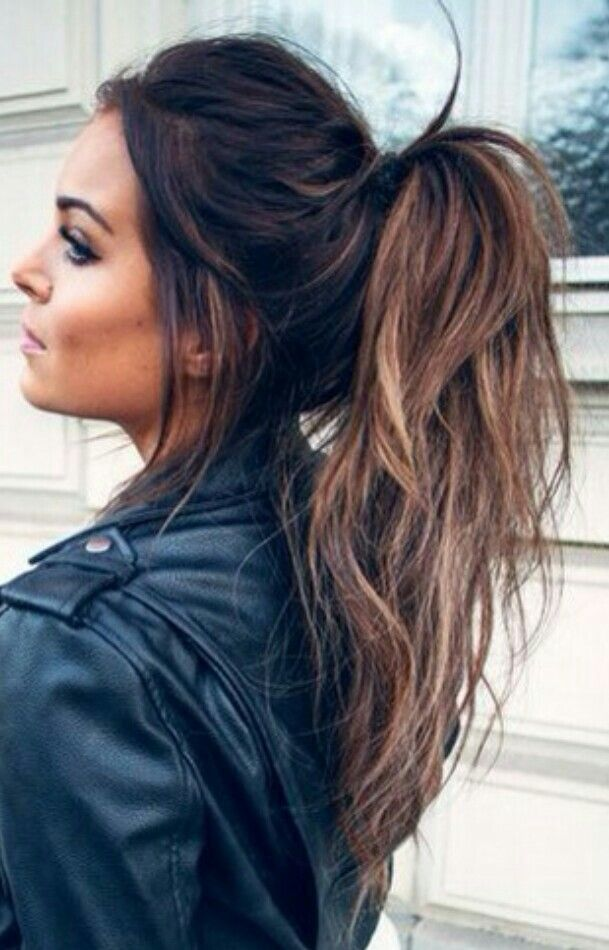 Balayage messy ponytail #gorgeoushair