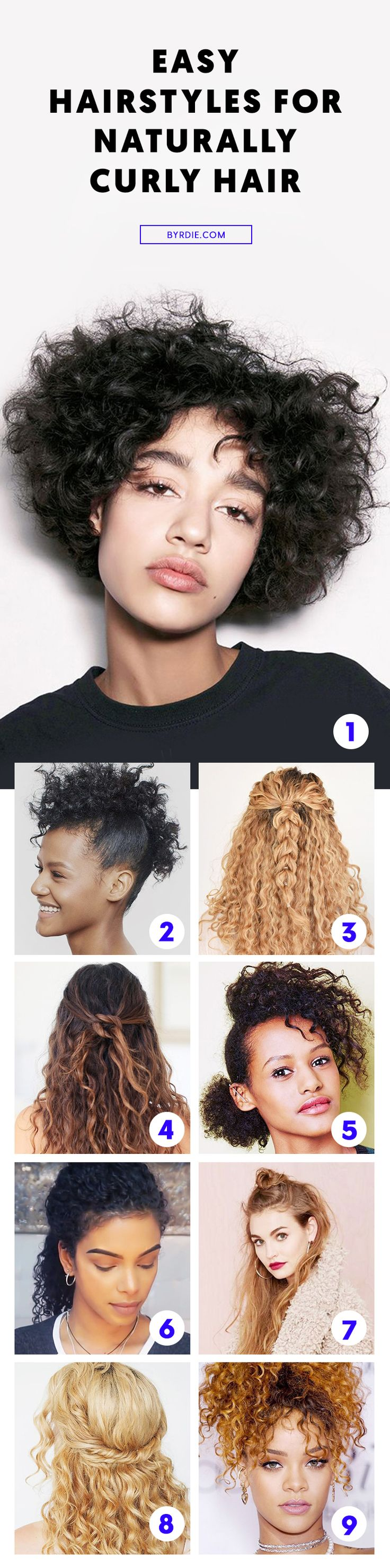 Easy hairstyles for curly hair...