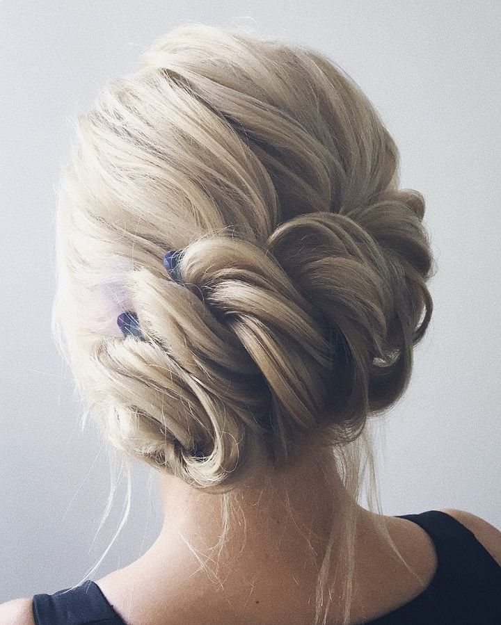 gorgeous braid with messy updo wedding hairstyle inspiration #weddinghair #haird...