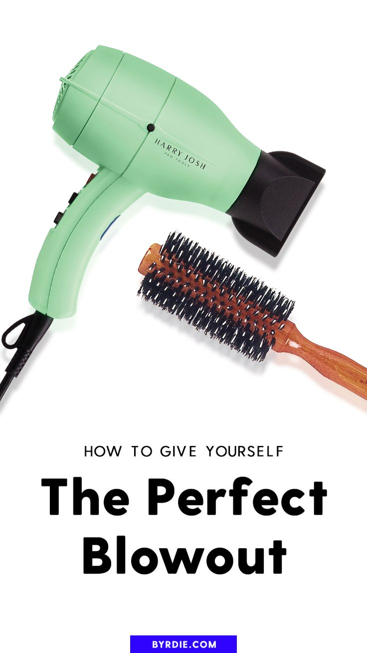 How to give yourself the perfect blowout...