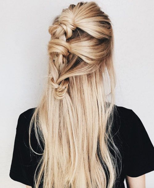 Knotted braid half updo by Katelynd McDonald