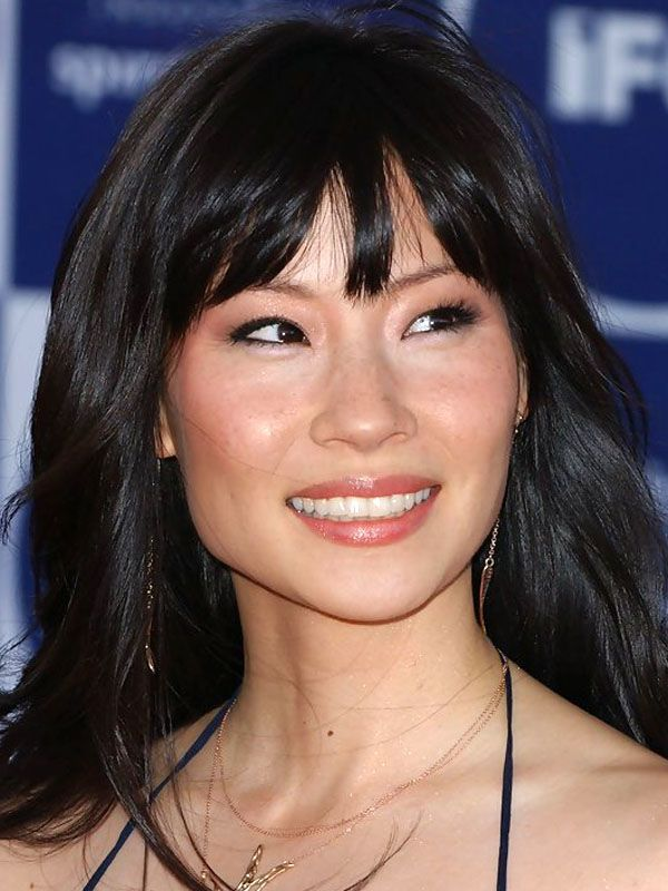 Lucy Liu square face bangs