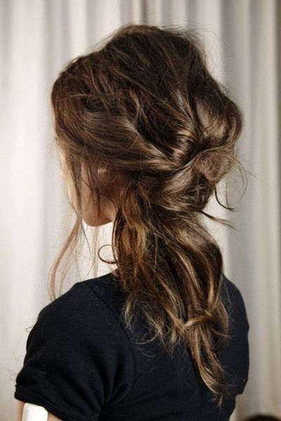 Messy bun-messy ponytail...