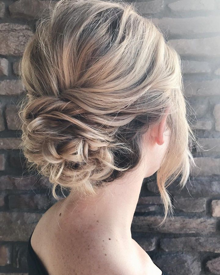 Messy textured updo bridal hairstyle |   #updos