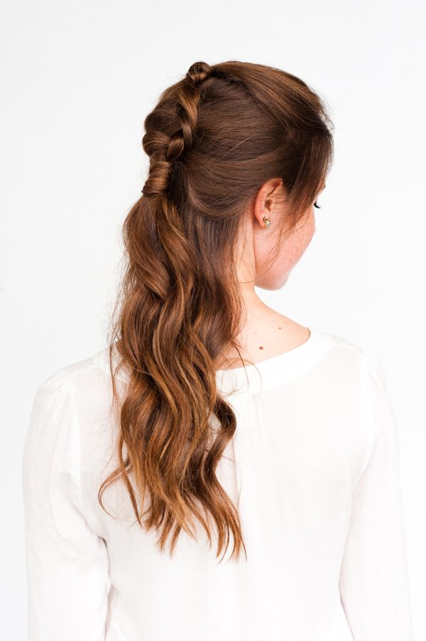 Pony Up: A Half Up Pony Braid Hair Tutorial - Paper and Stitch