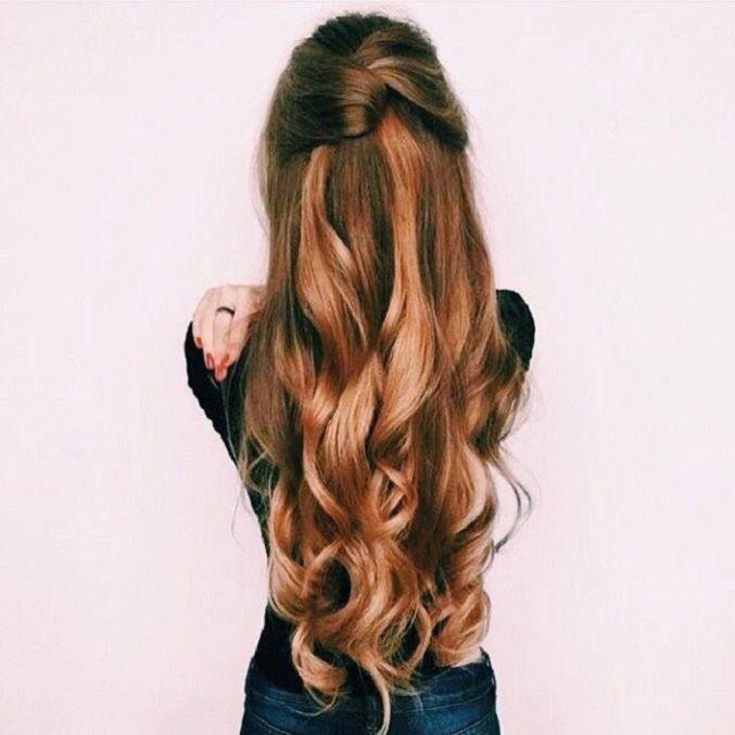 Pretty Half up half down curl hairstyles - partial updo wedding hairstyle #weddi...