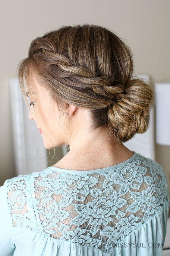 Rope Braid Low Bun Hairstyle #hair #hairstyles #hairtips | hairstyles | | hairst...