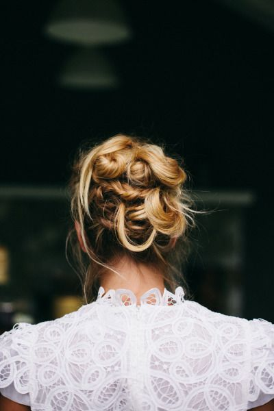 Twisted updo: www.stylemepretty... | Photography: Ivy & Tweed - ivyandtweed.com/...