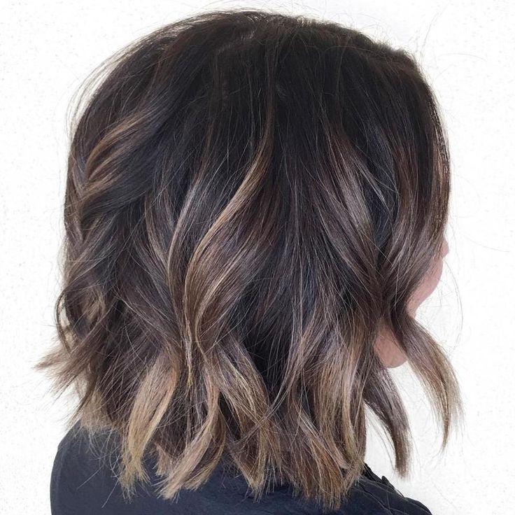 Best Hairstyles For 2017 2018 Wavy Brown Balayage Bob