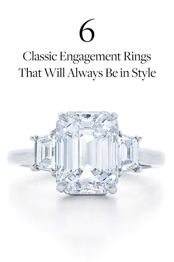 6 Classic Engagement Rings That Will Always Be in Style via @PureWow