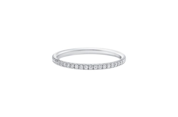 A Harry Winston Micropavé Diamond Wedding Band will never go out of style! www....