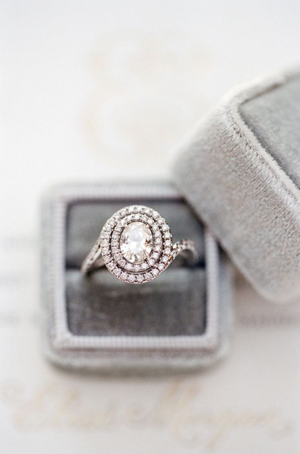 Double halo diamond ring: www.stylemepretty... Photography: Jose Villa - josevil...