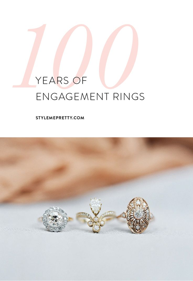 A visual history of engagement rings via Style Me Pretty.
