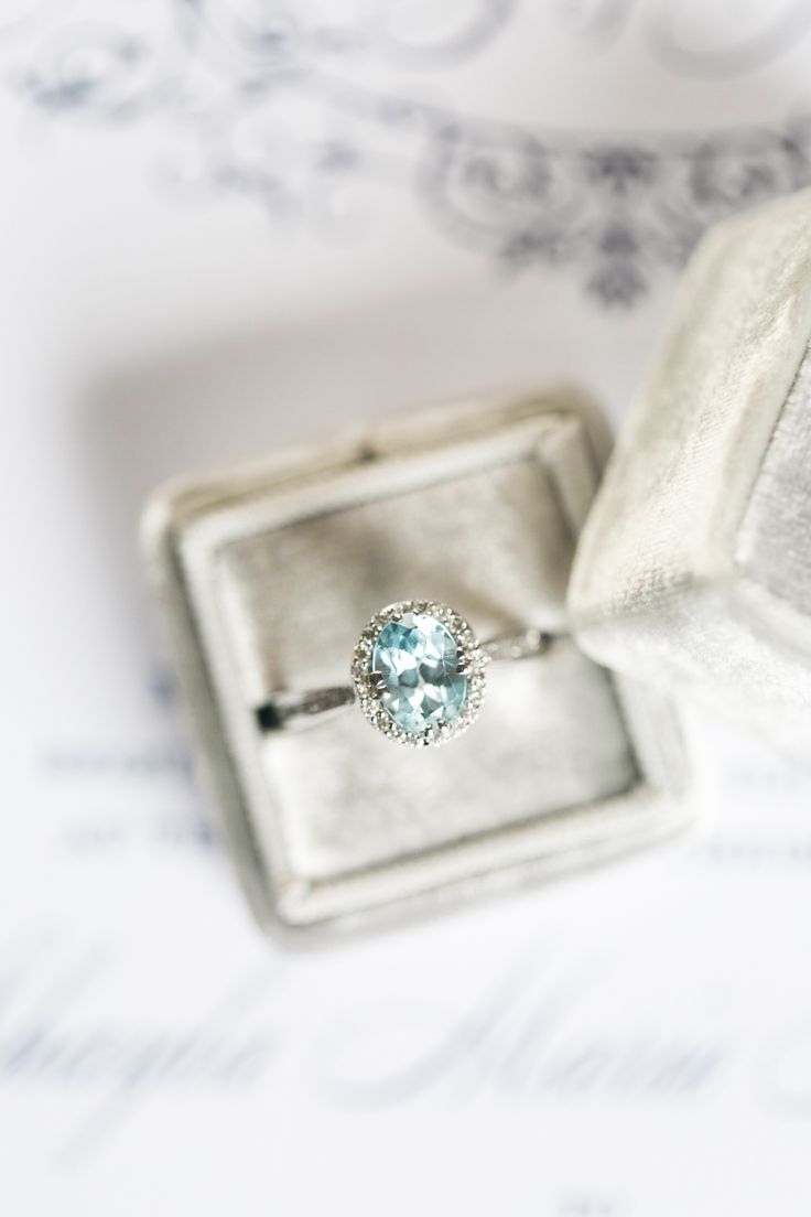 Aquamarine engagement ring. Photography : Brianna Wilbur Read More on SMP: www.s...