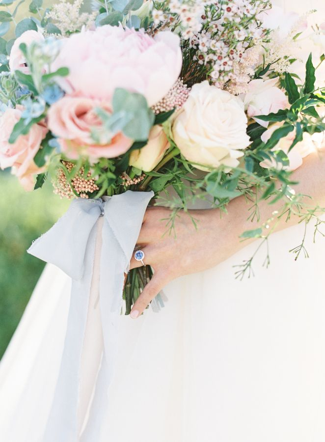 Beautiful blue engagement ring: www.stylemepretty... Photography: Sawyer Baird -...