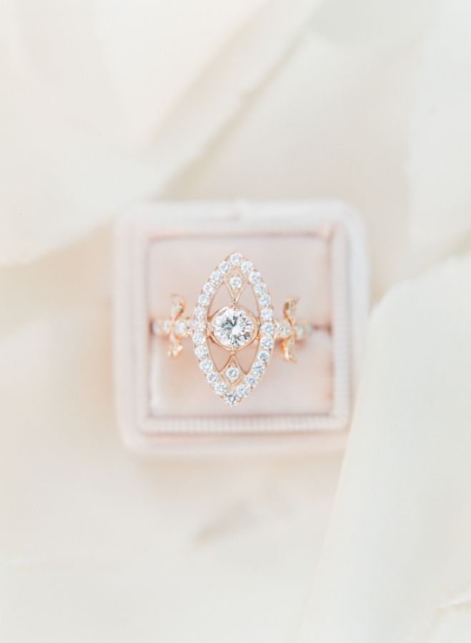 Vintage unique diamond and gold ring: www.stylemepretty... Photography: Sophie E...