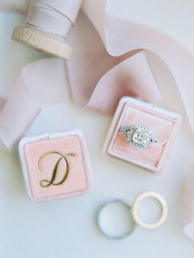 Beautiful princess-cut diamond ring: www.stylemepretty... Photography: mnc-photo...