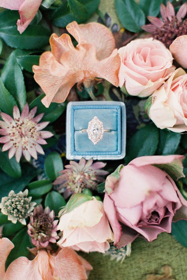 Beautiful unique marquise engagement ring: www.stylemepretty... Photography: Dan...