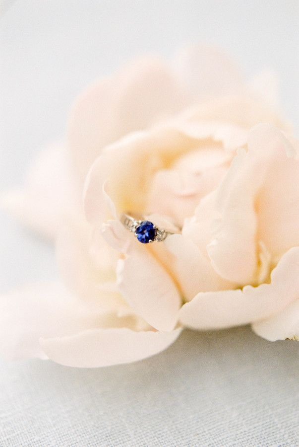 Blue diamond engagement ring: www.stylemepretty... Photography: Kerry Jeanne - k...