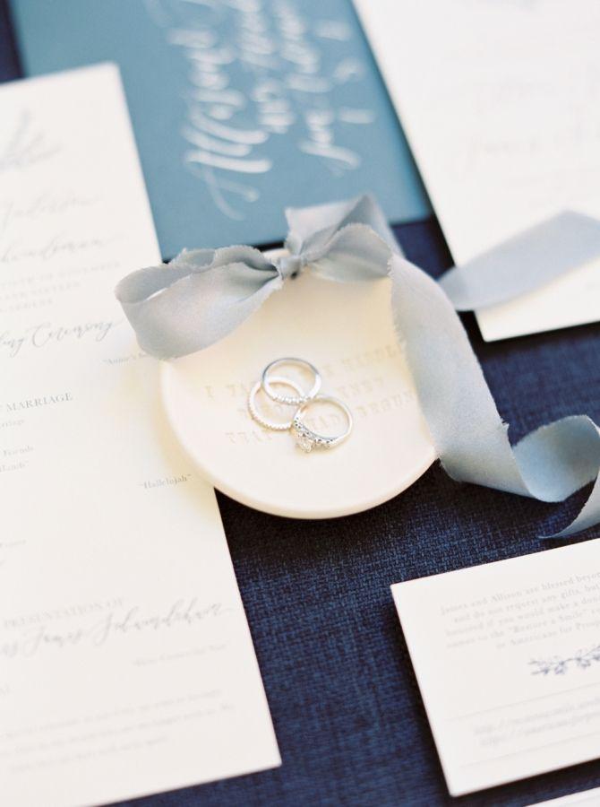 Blue infused wedding decor: www.stylemepretty... Photography: Michelle Boyd - ww...