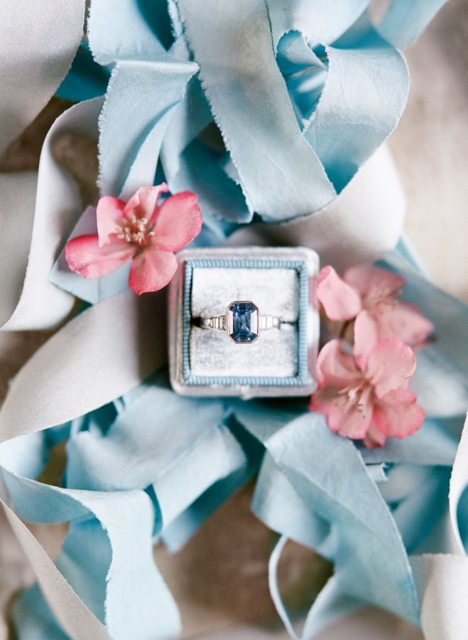 Blue stone engagement ring: www.stylemepretty... Photography: Rebecca Yale - reb...