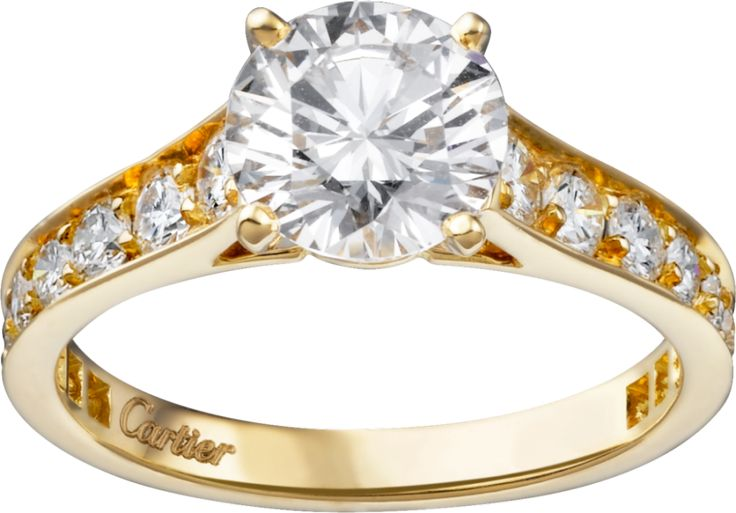 Cartier Solitaire 1895 engagement ring: www.stylemepretty...