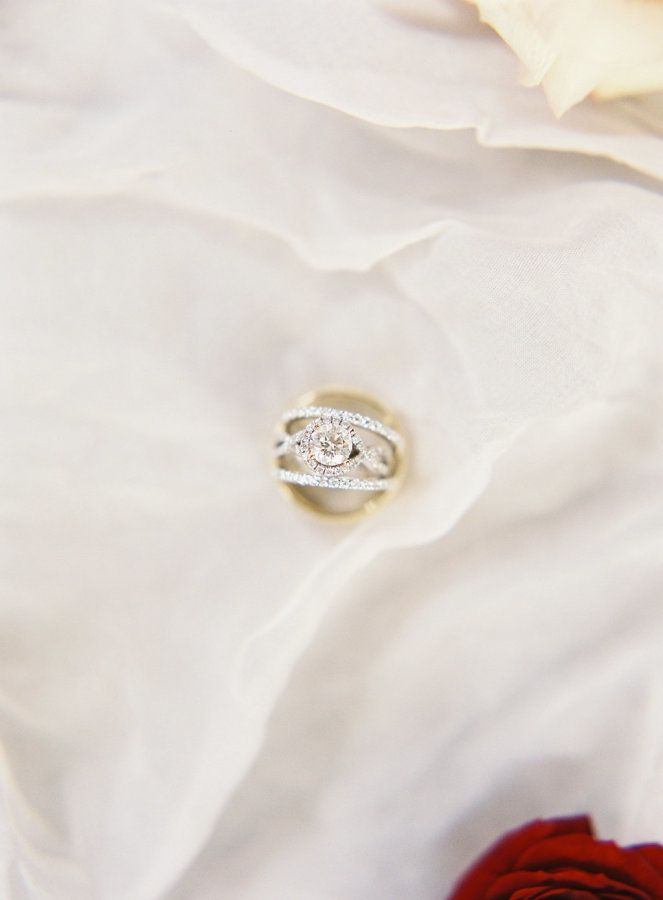 Circle-cut criss cross engagement ring: www.stylemepretty... Photography: Emily ...