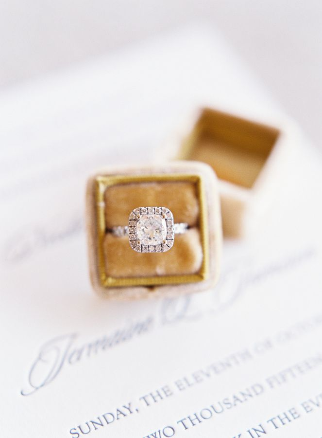 Circle-cut diamond in a halo setting: www.stylemepretty... Photography: Sposto -...