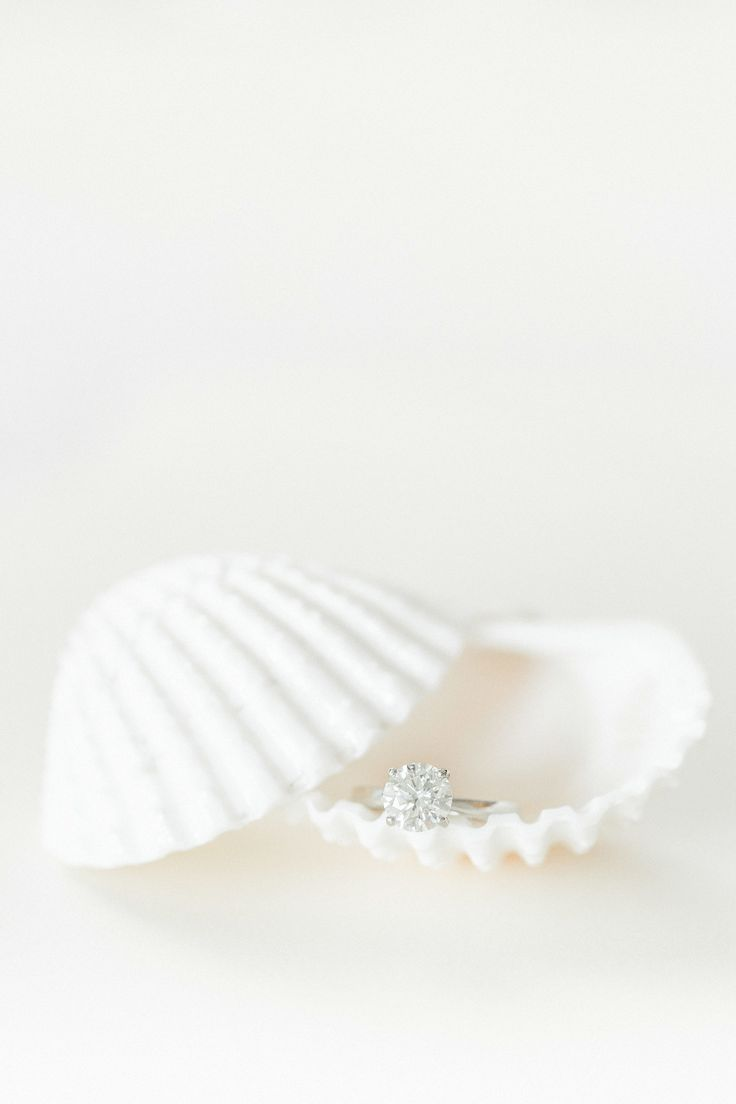 Circle-cut diamond ring: Bringing Black Tie Style Glamour to a Tropical Beach We...