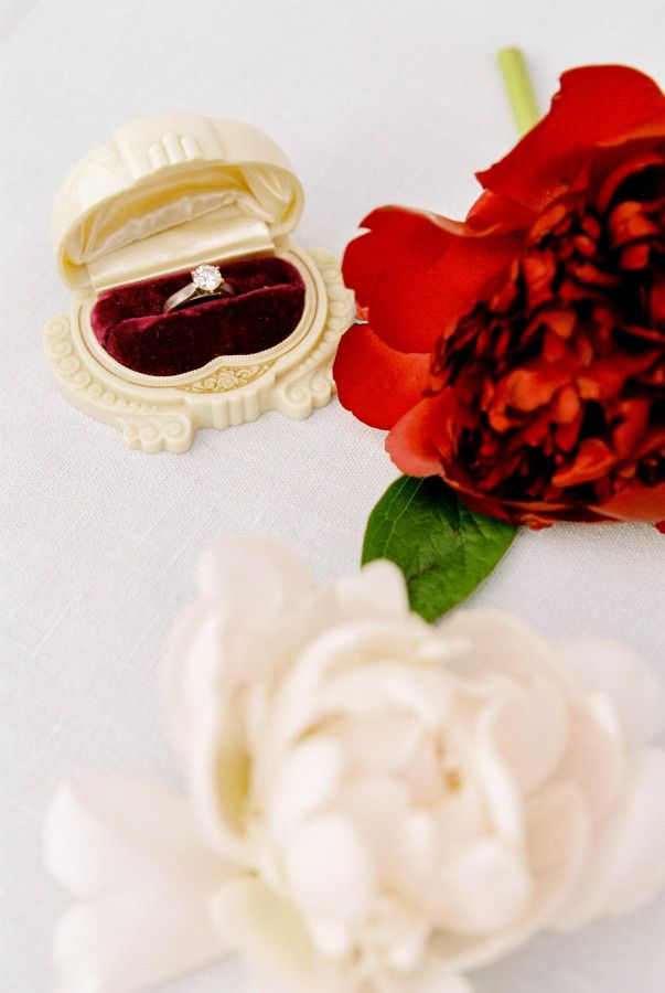Circle-cut diamond ring: www.stylemepretty... Photography: Kerry Jeanne - kerryj...