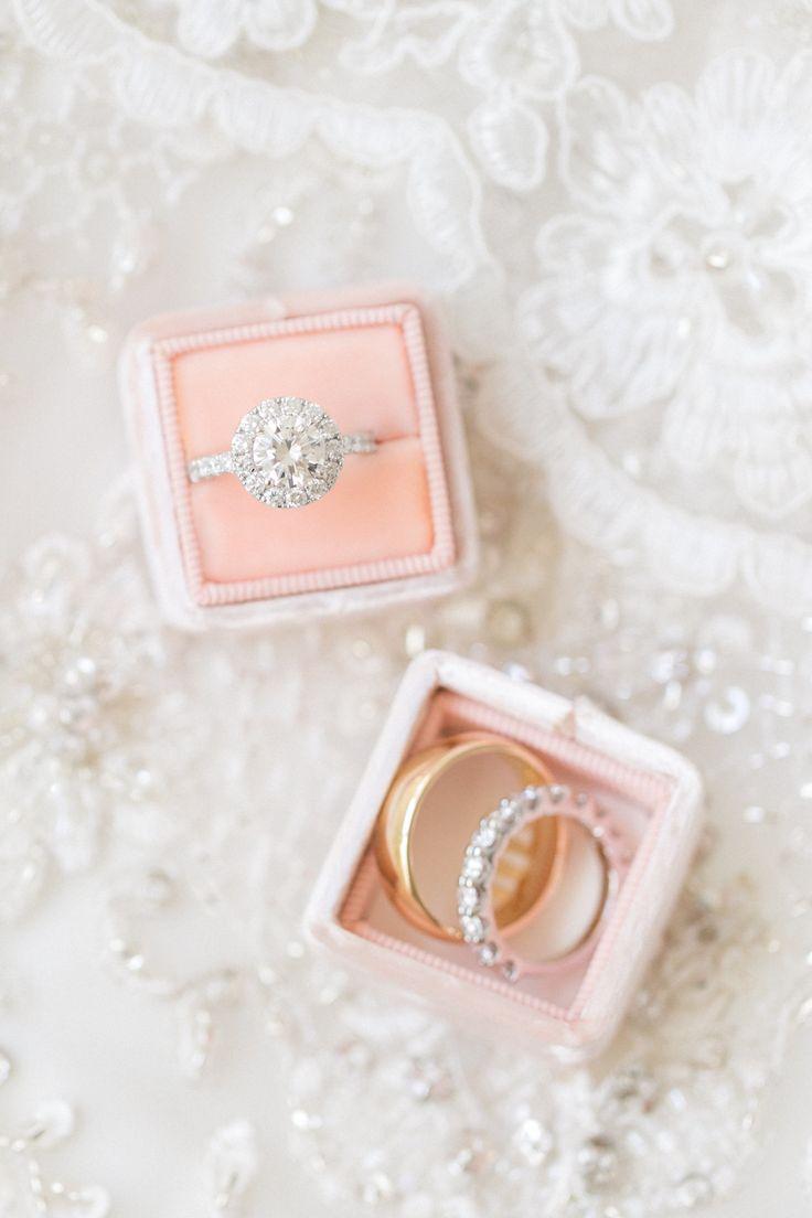 Circle-cut engagement ring: Classic Addison Park NJ Wedding...