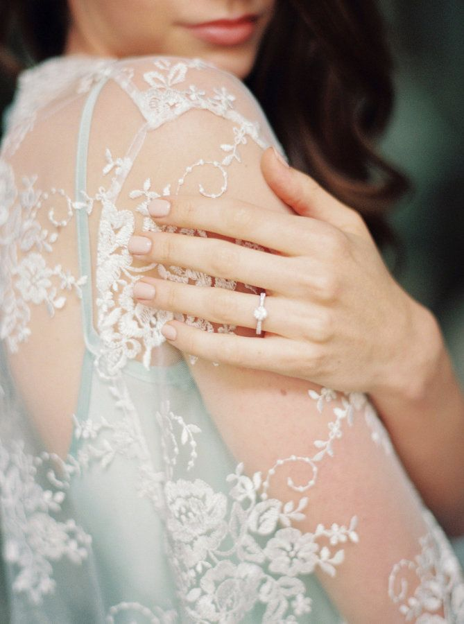 Circle-cut engagement ring: www.stylemepretty... Photography: Melanie Nedelko - ...