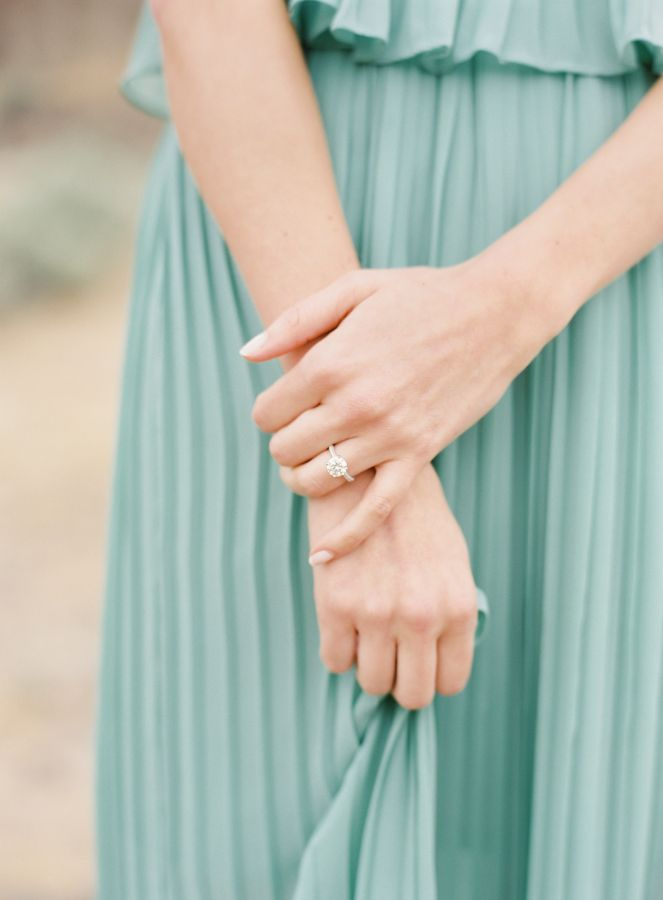 Circle-cut engagement ring: www.stylemepretty... Photography: O'Malley Photograp...