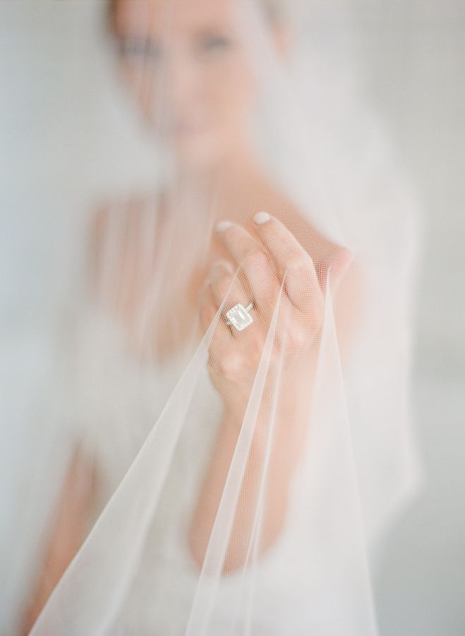 Classic diamond white gold engagement ring: www.stylemepretty... Photography: Mi...