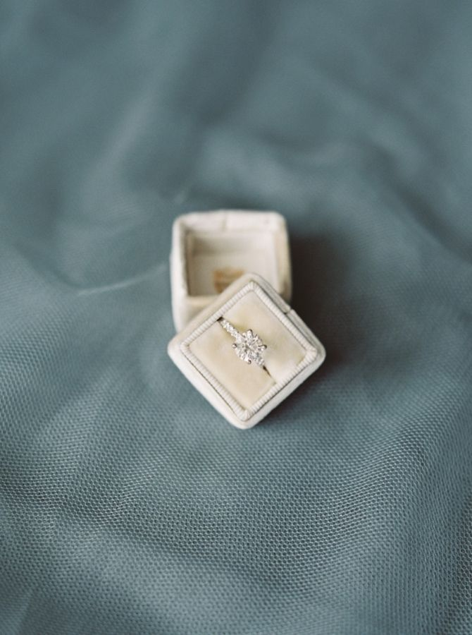Classic round-cut diamond ring: www.stylemepretty... Photography: Simply Sarah -...