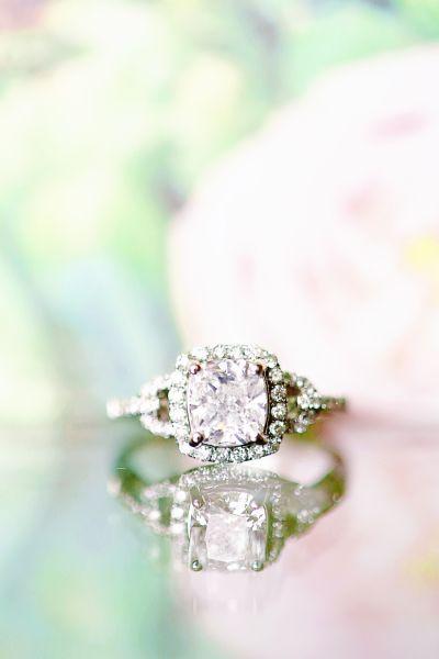 Cushion cut diamond ring: www.stylemepretty...