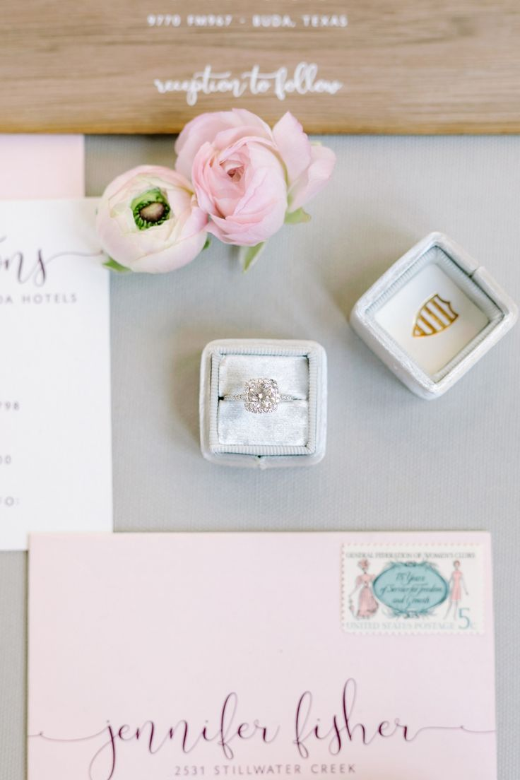 Cushion-cut engagement ring: Photography: Julie Wilhite Photography - www.juliew...
