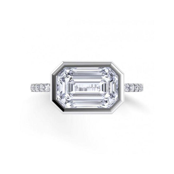 Danhov Per Lei Single Shank Emerald Engagement Ring: www.stylemepretty...