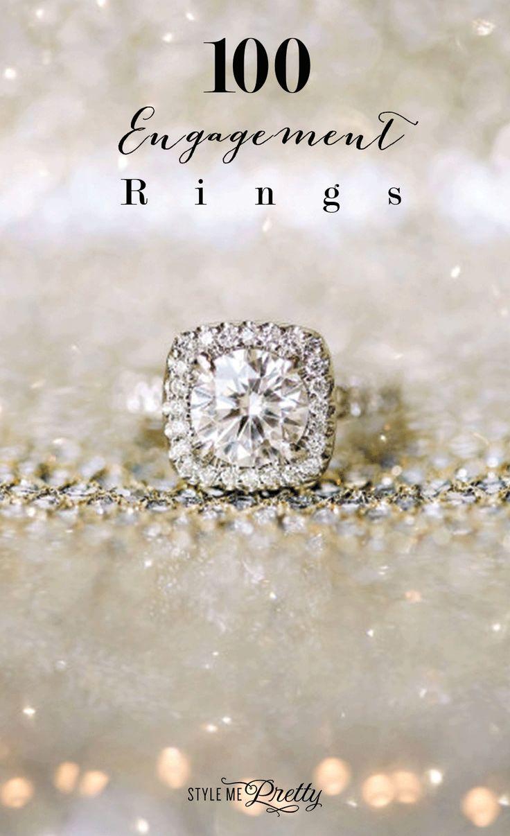 Dazzling engagement rings: www.stylemepretty......